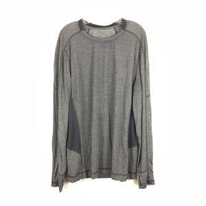 Lululemon Long Sleeve Black & Gray Shirt XL